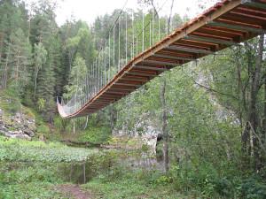 подвесной мост Оленьи Ручьи